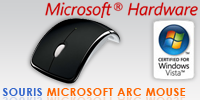 Test de la souris Microsoft Arc Mouse