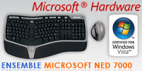 Test de l'ensemble clavier/souris Microsoft Natural Ergonomic Desktop 7000