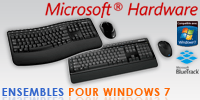 Les ensembles clavier/souris Microsoft pour Windows 7