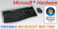 Test de l'ensemble clavier/souris Microsoft Wireless Laser Desktop 7000