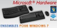 Les ensembles clavier/souris Microsoft pour Windows 7